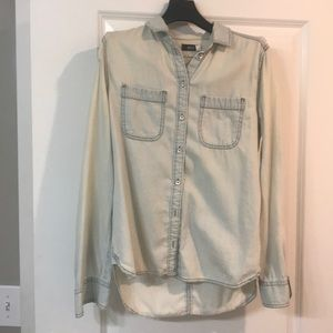 Light blue urban outfitters chambray shirt